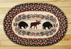 Best Kictchen Rugs | 13in x 19in Bear  Moose Oval Placemat  Set of 4 >>> Want additional info? Click on the image. Note:It is Affiliate Link to Amazon.