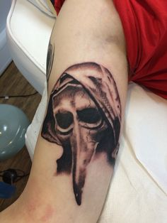 Plague doctor tattoo I got to do the other day