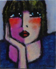 FAN de Daniel Timmers Abstract Face Art, Abstract Portrait, Portrait Art, Painting People, Figure Painting, Drawing People, Art Studio Design, Art For Art Sake, Artist Gallery