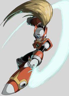 Mega Man, Megaman Zero, Megaman Series, Fighting Robots, I Go Crazy, Video Game Art, Cool Artwork, A Good Man, Character Design