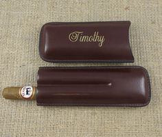 Cigar Case with Cutter Personalized Groomsmen by tiposcreations