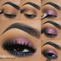 Diy Beauty Makeup, Cute Makeup, Skin Makeup, Eyeshadow Makeup, Makeup Tips, Makeup Tutorials, Basic Makeup, Makeup Ideas, Eye Base