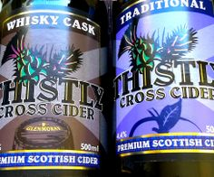 Perfect partners - our Whisky Cask and Traditional ciders in their newly tweaked labels.