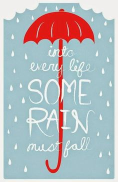 yes ☀ some rain is welcomed ☁ but too much ☂ and it begins to flood. •sh•