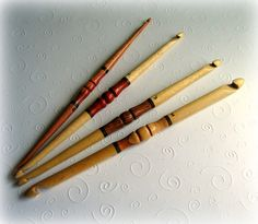 Wooden Double Crochet Hooks  These are so awesome!