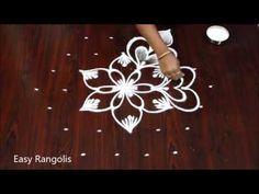 Easy Rangoli Designs Diwali, Small Rangoli Design, Rangoli Designs With Dots, Rangoli With Dots, Beautiful Rangoli Designs, Simple Rangoli, Rangoli Borders, Rangoli Border Designs, Kolam Designs