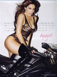 Kelly Brook's on DUCATI motorcycle | motocycle | August 2013