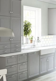 South Shore Decorating Blog: Gorgeous Gray: Kitchens and Bathrooms with Modern Gray Painted Cabinets