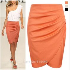 Find More Skirts Information about WOMEN BUSINESS KNEE LENGTH SKIRTS SOLID DAILY…