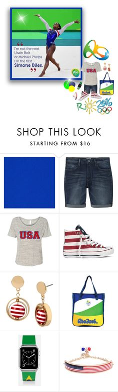 """""""Favorite Quote - Olympic Games 2016"""" by joy2thahworld ❤ liked on Polyvore featuring MANGO, Converse, bleu, Casetify, USA, beYOURSELF, Olympics, girlpower and rio"""