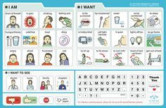Printable Hospital Communication Board | HealthCare Communication Boards by Vidatak