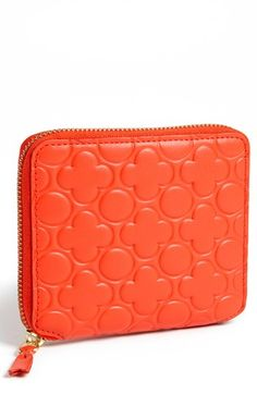 Comme des Garçons Embossed Clover French Wallet available at #Nordstrom