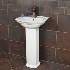 Gaston Corner Pedestal Sink