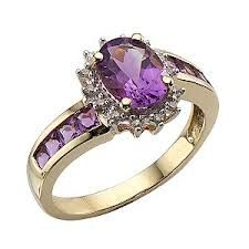 Purple Stone give New Look to ring on your Hand...