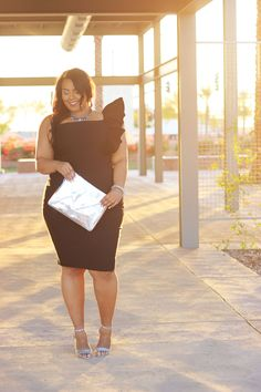 Plus Size Dresses from Fashion to Figure | Plus Size Fashion and Style blogger wows in FTF's little black dress
