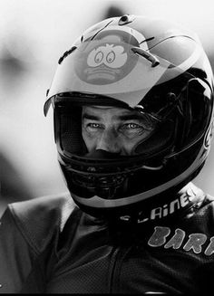 Barry is one of my all time hero's. Everything I wanted to be when I was a kid. Look at his eyes. They are steely. This is Barry the bike racer. The winner. The man who crashed at 150 mph at Daytona, survived, dusted himself off, lit a fag, smiled and went on to win again. One of the true sporting legends of all time. Sadly missed. RIP Barry.