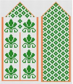 Knitting Charts, Lace Knitting, Knitting Socks, Knitting Patterns, Knitted Mittens Pattern, Crochet Gloves, Knit Mittens, Seed Bead Patterns, Craft Patterns