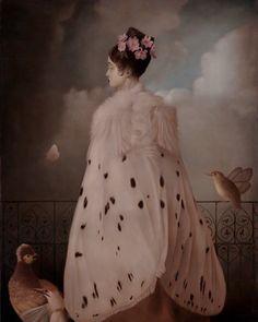 Vintage style oil painting by stephen mackey Stephen Mackey, Papillon Butterfly, Bijoux Art Nouveau, Pop Surrealism, Pics Art, Surreal Art, Looks Cool, Clowns, Costume Design