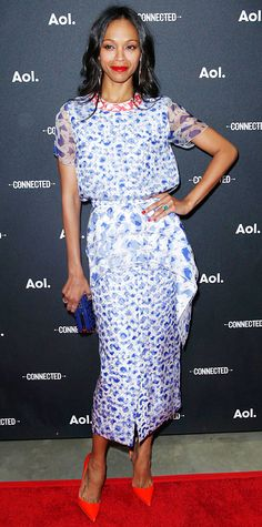 Look of the Day - April 30, 2014 - Zoe Saldana in Roksanda Ilincic from #InStyle
