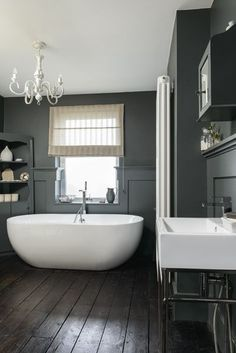 We've spotted our Stone One bath and his glamorous cohort, Gessi, a freestanding bath mixer in a beautiful georgian #bathroom renovation.