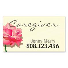 flower caregiver business card template nurse business cards