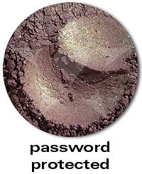 Password Protected- A muted warm mauve with coppery iridescence and bright golden sparks. #aromaleigh #eyeshadow #sherlock http://www.aromaleigh.com/cosobdeeymy.html