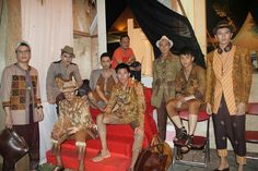Batik, Fashion, Men's collection Sogan batik mix with tenun ikat