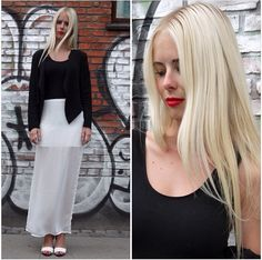 Outfit of the day, look, ootd, simone tajmer, look of the day, red lips, blonde, zara, white