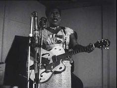 Sister Rosetta Tharpe, France 1960, This women can play the guitar.  Elvis loved her music.