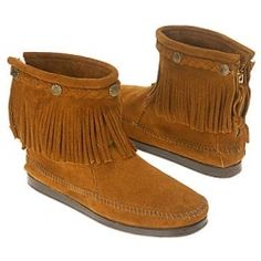 minnetonka hip top back zip boots.   been wanting these for like 5 years!