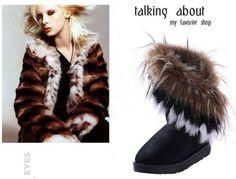 Winter Warm snow boots artificial fur leather tassel women's shoes