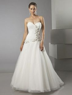 ruched-and-appliqued-tulle-a-line-wedding-ball-gown