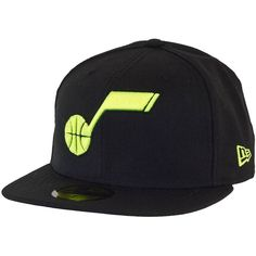 New Era Seasonal Basic Cap NBA Utah Jazz black/cybergreen ★★★★★