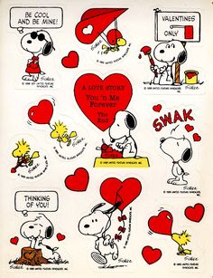 Vintage Hallmark Snoopy Sticker Sheet Peanuts Love hearts Woodstock New Peanuts Cartoon, Peanuts Snoopy, Snoopy Valentine's Day, Snoopy Und Woodstock, Snoopy Images, Snoopy Quotes, Charlie Brown And Snoopy, Vintage Valentines, Valentine Cards