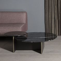 Contemporary coffee table / lacquered MDF / marble / round ANT KENDO MOBILIARIO