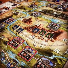 Great Western Trail! Loving this game, gets better every time we play!