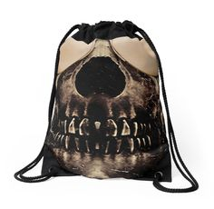 Be cool even after death dark and funny #alloverprint #drawstringbag designed by #dflcprints and produced by  #redbubble