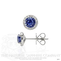 0.87ct Blue Sapphire Earring Image 2