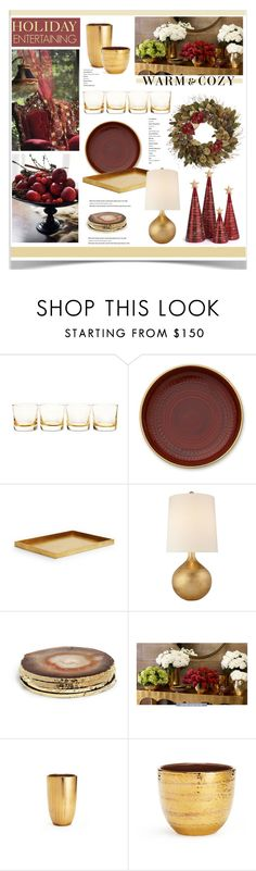 """Holiday Entertaining"" by jpetersen ❤ liked on Polyvore featuring interior, interiors, interior design, home, home decor, interior decorating, AERIN, Levi's, Pier 1 Imports and holidaystyle"