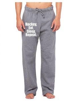 hockey eat sleep repeat 1 Sweatpants