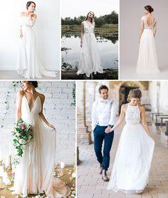 Suknia ślubna w rustykalnym/sielskim stylu