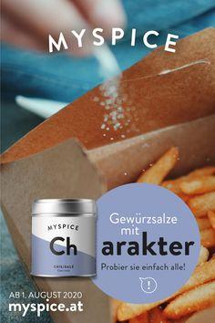 WÜRZEN LEICHT GEMACHT ...  Probier doch mal was Neues - mit den MYSPICE Gewürzsalzen kommt neben Salz auch noch das gewisse Etwas an deine Speisen. Chili, Kräuter, Blüten ... WAS DARF´S HEUTE SEIN? ••• myspice.at - AB 1. AUGUST 2020 ••• #gewürzsalz #myspice #salz #gewürze #würzen   #kochenmachtspass #kochenmachtglücklich #soschmecktmeinewelt Chili, Simple, Salt, Chile, Chilis