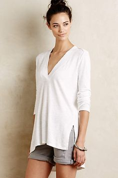 Slubbed V-Neck Tunic - by sol angeles anthropologie.com