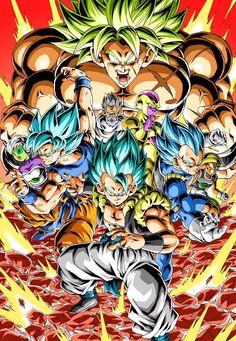 Dragon Ball Super Broly by Youngjijii Dragon Ball Gt, Dragon Ball Image, Dbz Wallpapers, Mega Anime, Dragon Super, Broly Movie, Akira, Anime Shows, Chibi