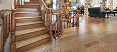 Our selection of solid #hardwoods includes unfinished hickory flooring, and #hickory #unfinished #flooring is ideal for #wood stains and repeated use.
