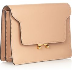 Marni Leather clutch ($720) ❤ liked on Polyvore