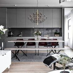 A chandelier to swing from. Use #MyFLOS to be featured. ?: 2097, Gino Sarfatti ?: @davidvillagelighting | Shared from YLiving.com