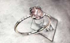 1.37 Carat Dark Champagne Diamond Ring in White Gold - CHINCHAR•MALONEY