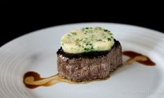 Fillet steak with bone marrow butter. A simple and delicious recipe.
