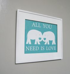 Elephant Print  Kids Wall Art Childrens Art by pumpkinandbutterfly, $24.00